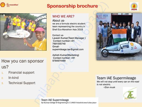 sponsorship brachure