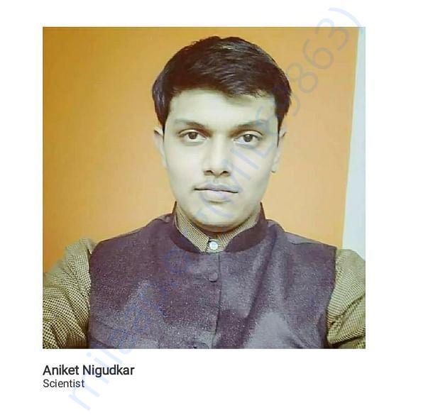 Aniket Nigudkar : Scientist