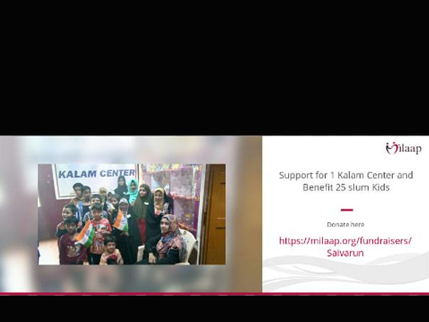 Help for 1 kalam center and benefit 25 slum kids