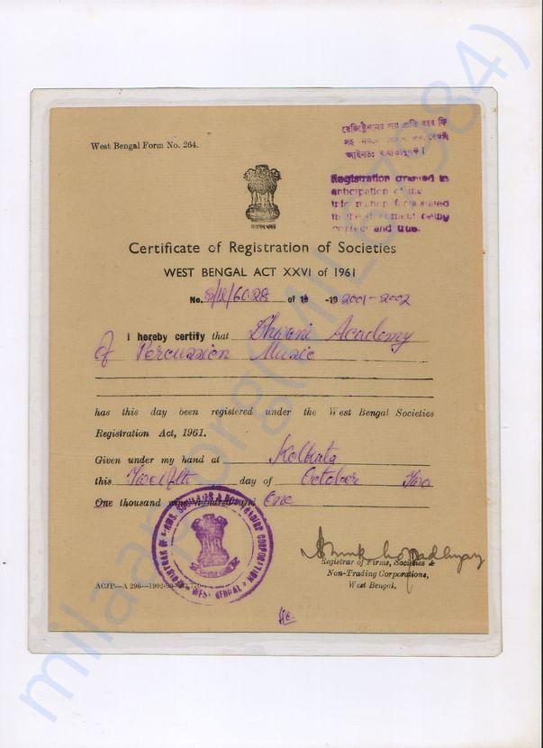 Registration of Societies