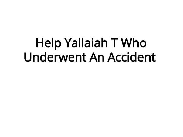 Head injury because of accident ! Name thorpunori saikiran