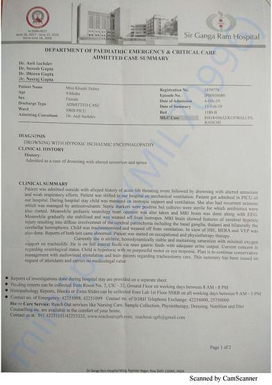 Admission letter - Ganga Ram Hospital