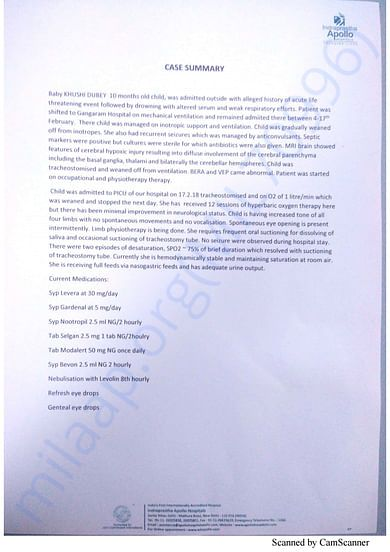 Admission letter - Apollo Hospital