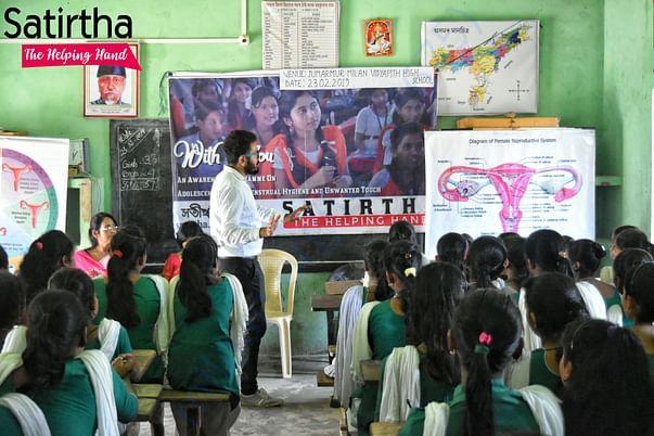 Awareness programme on menstrual hygiene and free pad distribution