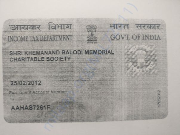 PAN Card of Society
