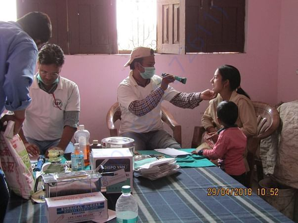 Society medical camp eye