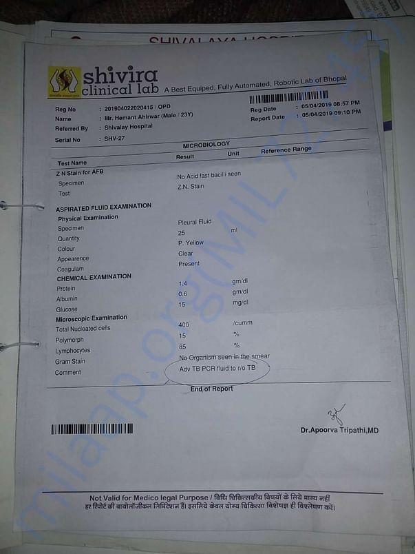 TB test report