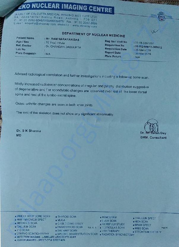 Bone Scan report of ram Narayan Das page 02