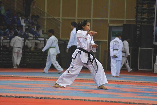 Performing Individual pattern at National championship, Delhi