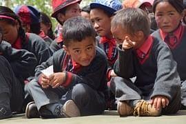 Changthang school children