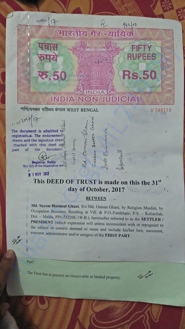 Registration Deed