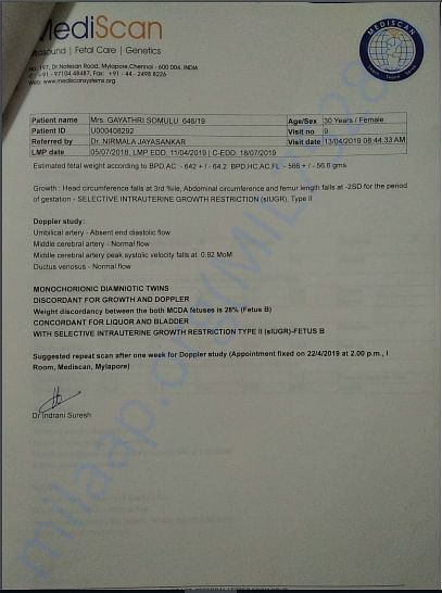 Trimester scan report