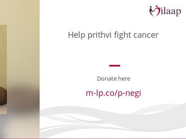 Help prithvi fight cancer