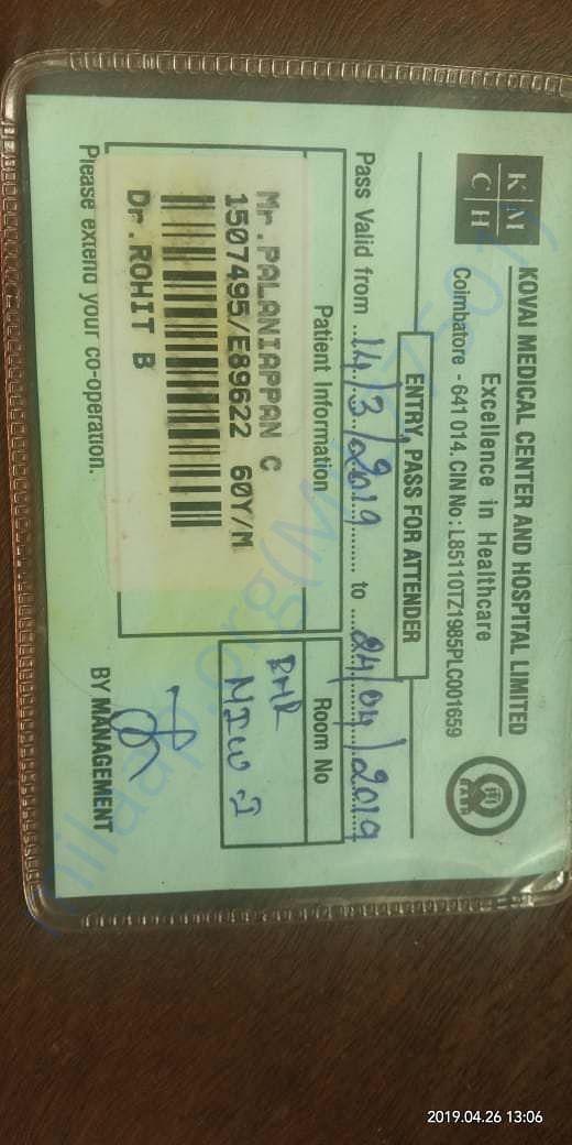Admission card.