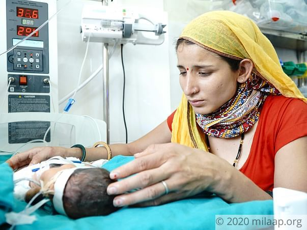 Baby of Pooja  needs your help to survive