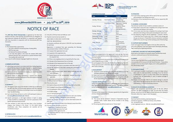 J80 Official Notice