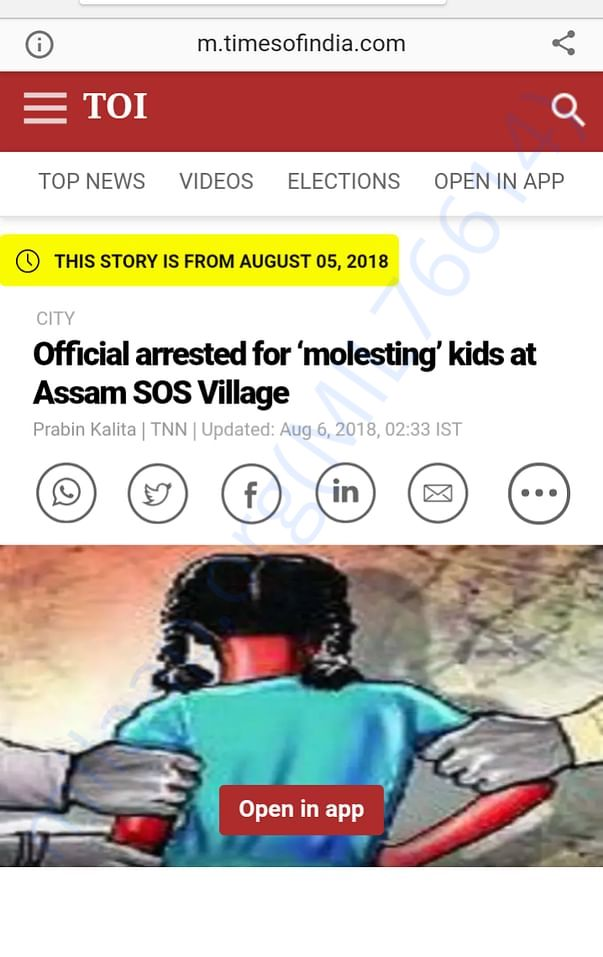UTSAH lodges FIR. Police arrests SOS official for child sexual abuse