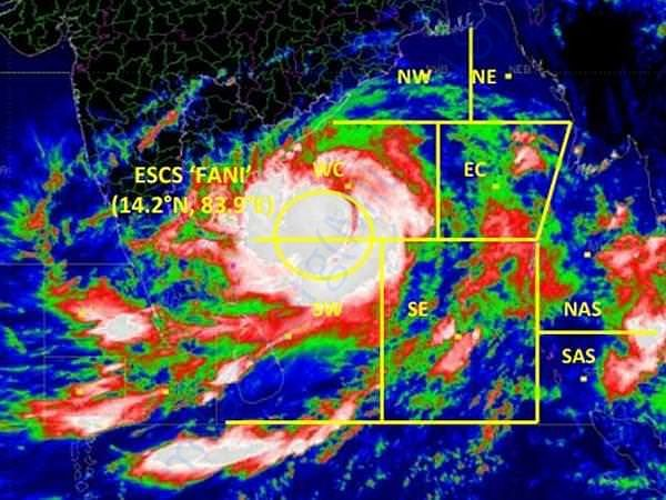IMD image of cyclone