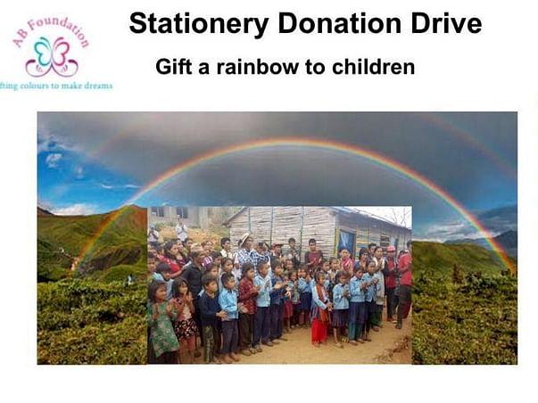 Gift rainbow to children