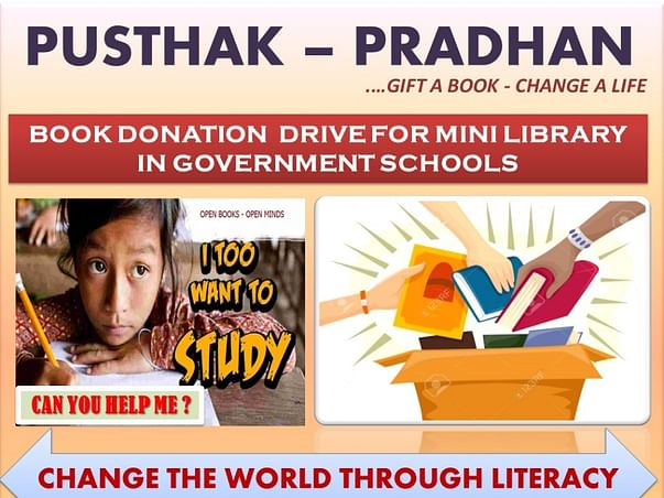 Donation for the underprivileged children for school libraries
