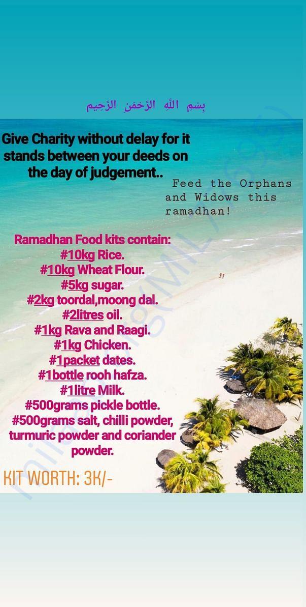 Ramadhan food kits.