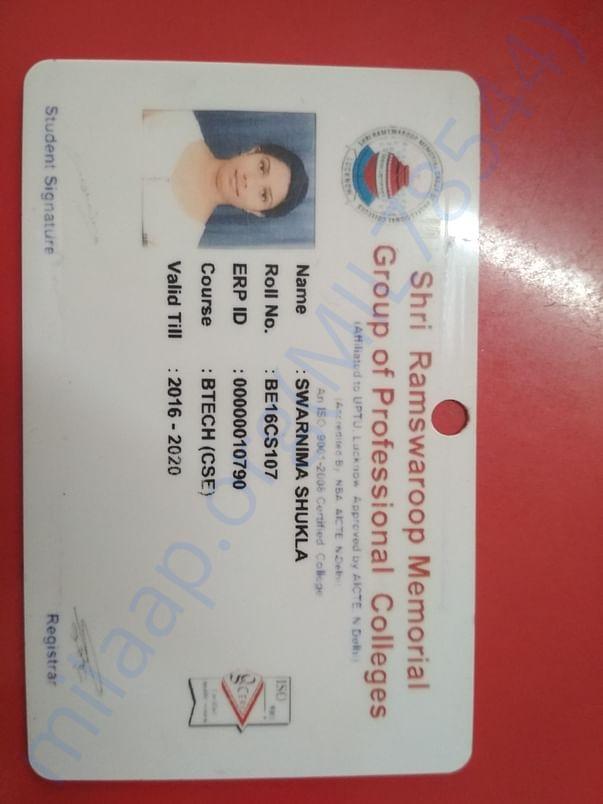 College identity card