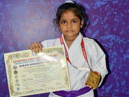 Arinjita WITH KAI Sub Junior  2017 Gold medal and certificate