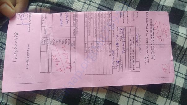 this is fee slip of 6th semester!!