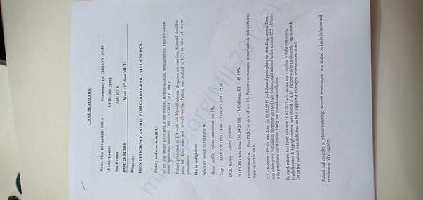 Case Summary for Mrs Gitasree Saha
