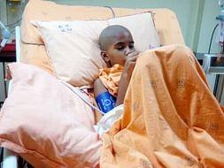 8 year old girl fighting against brain tumor