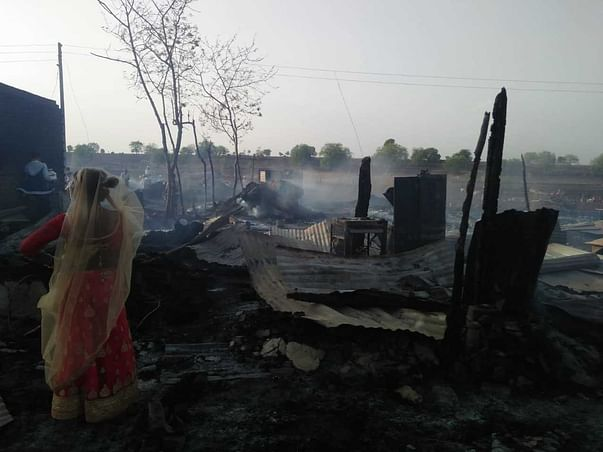 HELP TEAM YUVA MELGHAT TO REHABILITATE VILLAGE DESTROYED BY FIRE