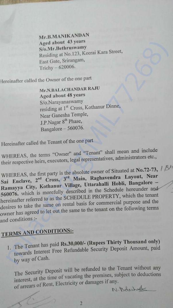 Rental agreement 3