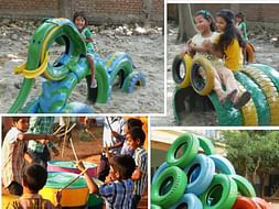 A playground for the children of Arakadu Village (Project Parivartan)