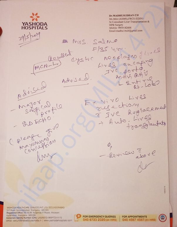 Doctor's appeal for more funds(estimation for sugery is 20 lakhs)