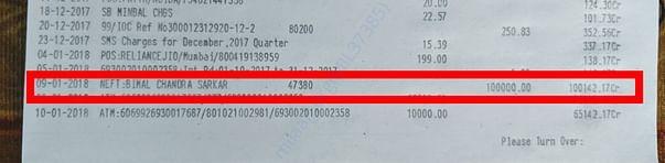 Loan Amount on Passbook