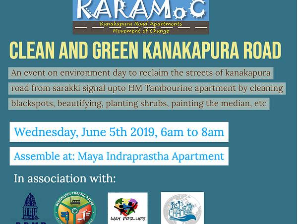 KARAMoC - Kanakapura Road Environmental Day Cleanathon and Plantation