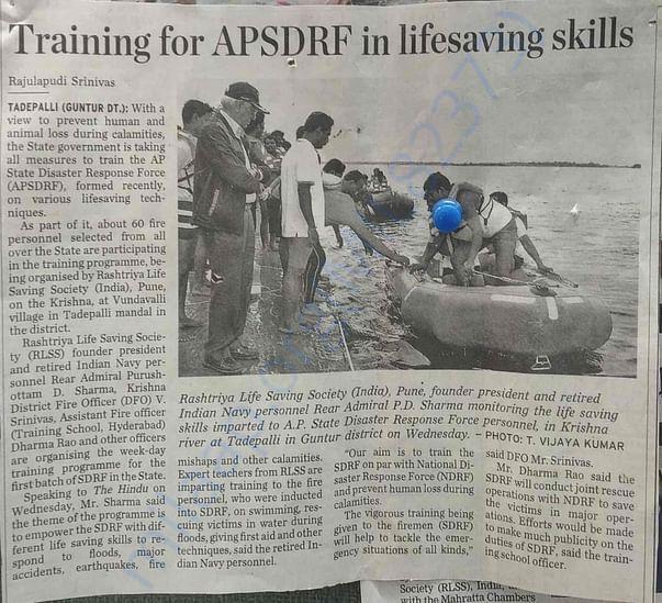 News Paper Article about RLSS