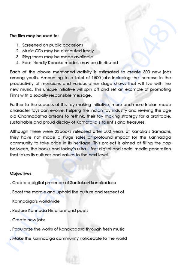 Santakavi Kanakadasa Project Report page no. 2