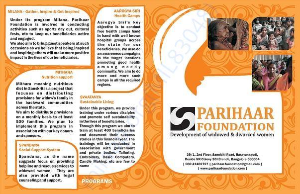 Parihaar Foundation Leaflet page no. 2