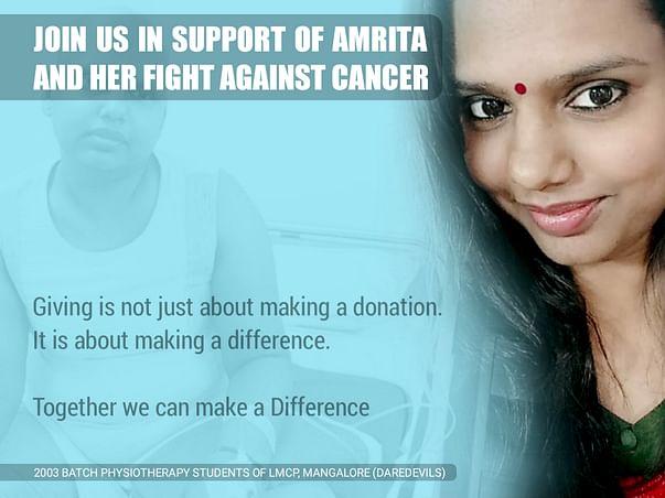 Help Amrita Fight Cancer