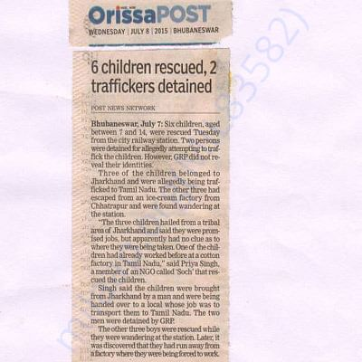 Rescue operation Conducted by SOCH