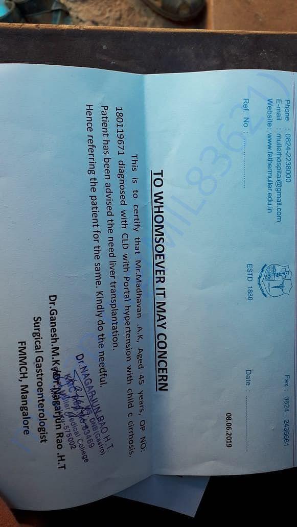 Doctors certificate