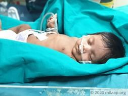 Baby of Mrs.Ganga Gore needs your help to survive