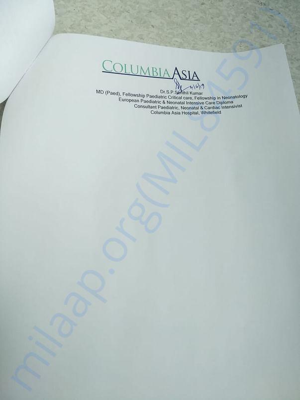 Diagnosis Summary - Columbia Asia