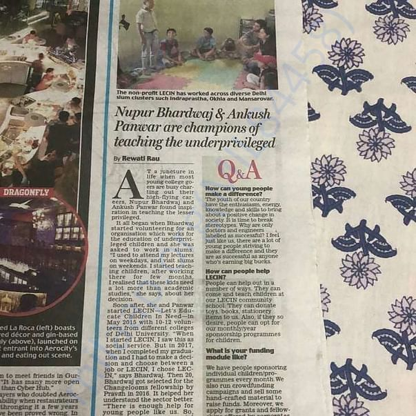 The organisation found it's corner in the Sunday edition of Mail Today