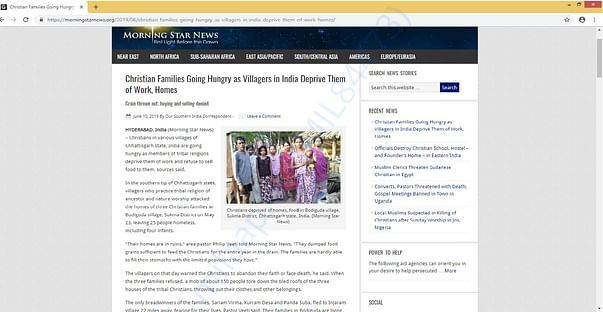 Christians deprived of home, food in Chhattisgarh village