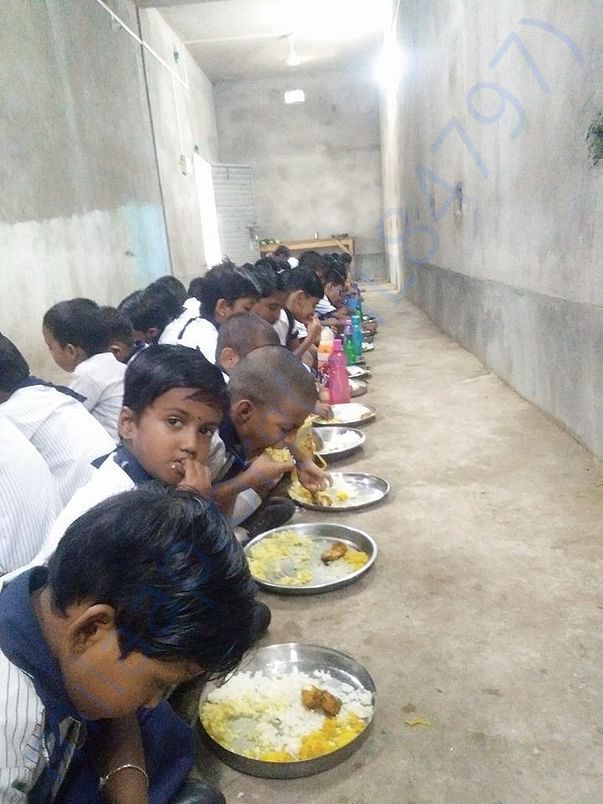 Free Mid Day Meal to Students at our School