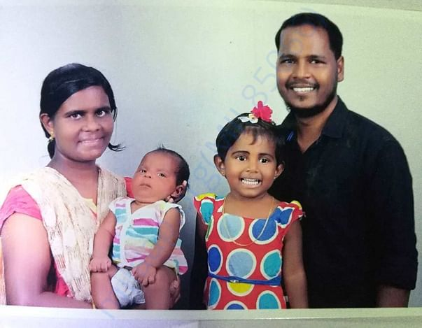 Picture of the beneficiary with his family
