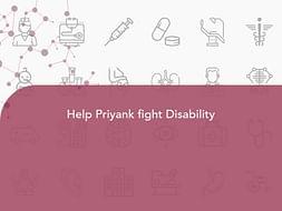 Help Priyank fight Disability