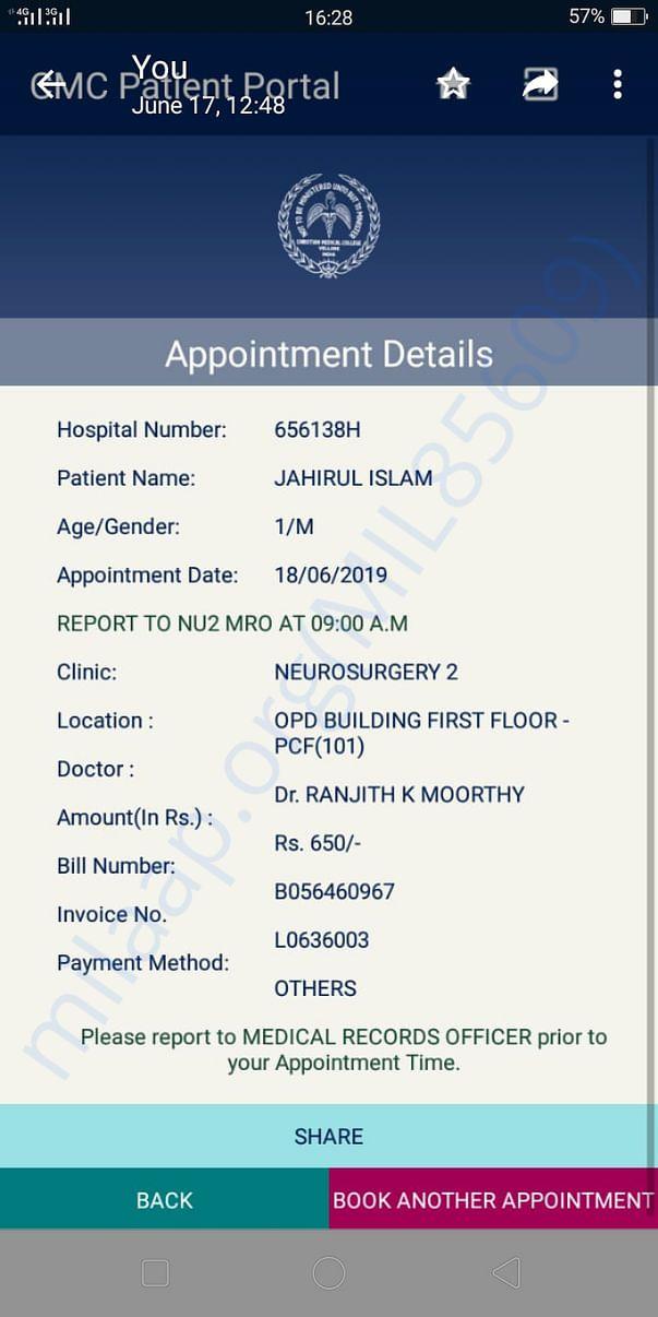 Neurologist examined